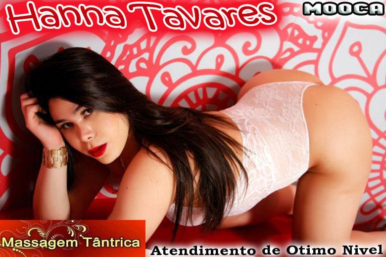 Hanna Tavares - Acomapanhante travesti são paulo